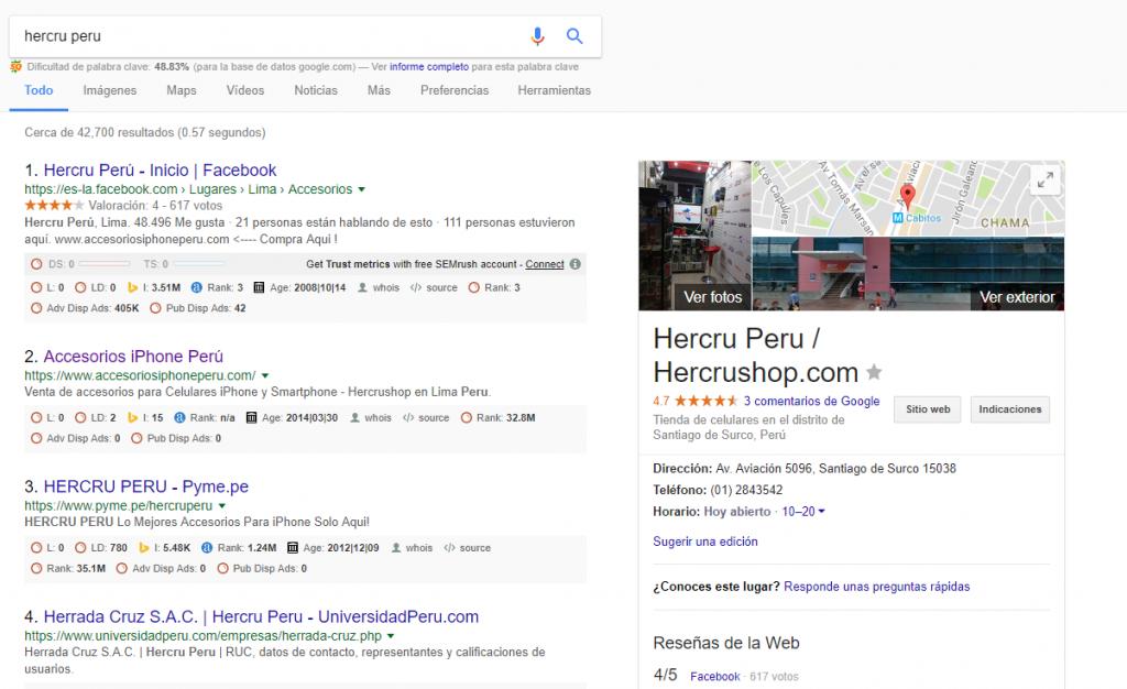 Mi negocio en el mapa de Google
