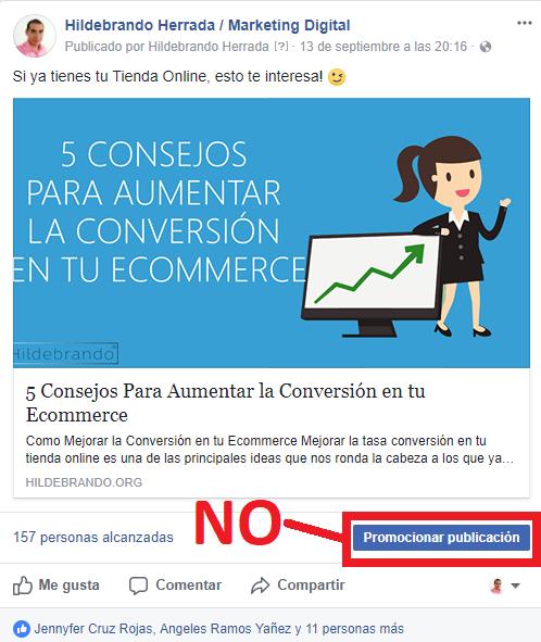 No publicar en facebook
